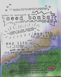 Seed Bomb Workshop 2014
